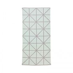 Bloomingville Läufer Mint/Grau mit Diagonal-Muster
