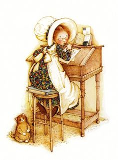 Writing , holly hobbie
