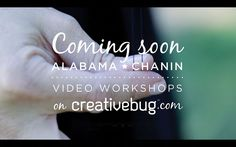 Video workshops from Alabama Chanin launching Tuesday (6/26) on Creativebug.com