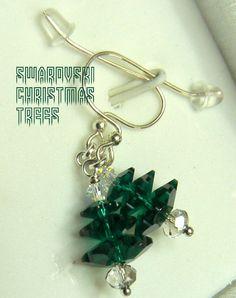 Xmas earrings - $25 trees are   Swarovski Marguerites.