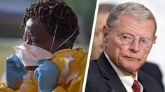 The Senate's biggest climate denier Sen. INHOFE finds new way to be terrible by blocking funding for Ebola intervention.