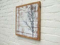 Tree Print; 'Roar Of Trees' Reclaimed Wood Print - art & pictures
