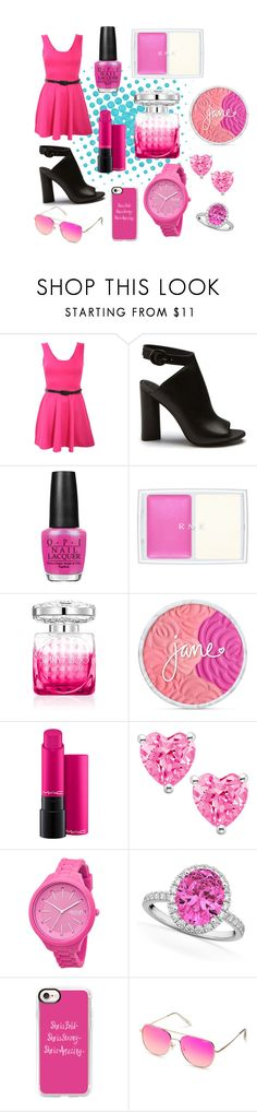 """Pink"" by natalie8332 ❤ liked on Polyvore featuring Pilot, OPI, RMK, Jimmy Choo, Rip Curl, Allurez, Casetify and Quay"