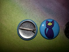 """Cyclops Kitty 1"""" button.  Available in our Etsy Store- TravelersWagon"""