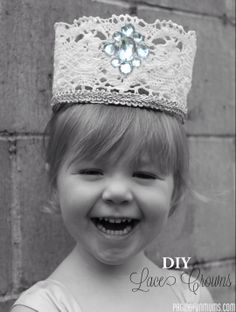 DIY Lace Crowns! So sweet!