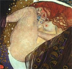 Danae - Gustav Klimt [1908] Art Nouveau (Modern), Golden phase, mythological painting, oil on canvas, 77 x 83 cm, Galerie Wurthle, Vienna, Austria