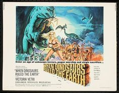 """BRING BACK THE 70'S!!"" - Just added some GREAT movie posters from the '70's. Mostly all 1-sheets that measure approx. 27x41. WHEN DINOSAURS RULED THE EARTH -1970 Orig 22x28 Rolled Movie Poster- HAMMER FILM"