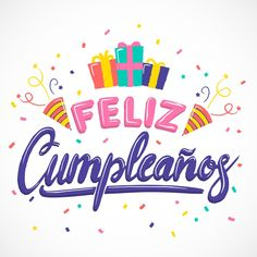 Freepik - Happy birthday wrapped gifts with ribbon lettering Free Vector [AI - EPS] - Pikdone Happy Birthday In Spanish, Happy Birthday Clip Art, Happy Birthday Template, Happy Birthday Wallpaper, Happy Birthday Beautiful, Diy Birthday, Birthday Wishes Quotes, Happy Birthday Wishes, Birthday Greetings