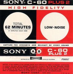 SONY C-60 casette tape package
