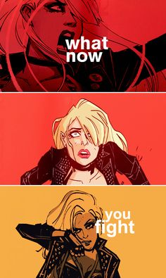 Black Canary: What now? You fight.