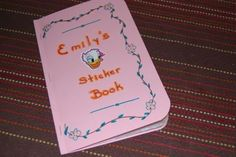 When my parents were visiting last week, my mom brought a few stickers for Emily. We realized that Emily didn't have a sticker book, ...