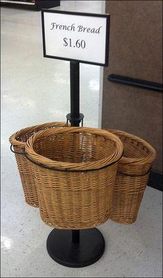 Low-Rider Wicker French Bread Baskets