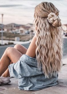 Wand Hairstyles, Teen Hairstyles, Summer Hairstyles, Pretty Hairstyles, Cute School Hairstyles, Crimped Hairstyles, Beach Hairstyles For Long Hair, Cute Everyday Hairstyles, Cute Hairstyles For Teens