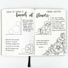 How to draw beautiful flower doodles in your bullet journal! These easy flower drawing tutorials will have you doodling flower patterns all over your bujo. Easy Flower Drawings, Flower Drawing Tutorials, Flower Sketches, Easy Drawings, Doodle Drawings, Drawing Tips, Drawing Drawing, Drawing Faces, Pencil Drawings