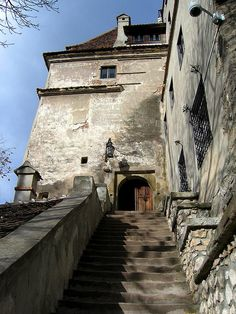 Bran Castle, Transylvania, Romania  steps to the castle - there are about 100 more before you get this far!