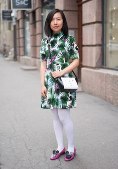 """""""I'm wearing a dress by Joyrich, Minna Parikka shoes and a bag by Lulu Guiness. I'm inspired by the fun and flux side of fashion; I dress to amuse myself and others."""""""
