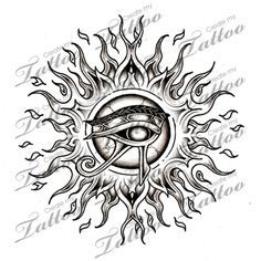 The Eye of Horus, said to bring good fortune and protection to all who wear it. Not a bad tattoo design!