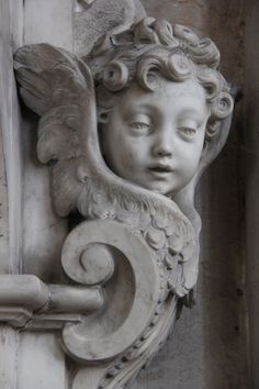 An Angel from inside Amiens Cathedral, Amiens, France