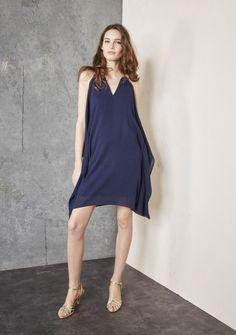 Nouveau Femme TFNC London froid épaule embellie Robe Hannah Bleu marine UK 12