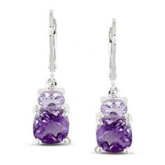 @Overstock - Miadora Silver Amethyst and Rose de France Earrings - Featuring a delicate silhouette and polished finish, these silver amethyst earrings will look stunning with any cocktail dress. The vivid amethyst stones are cut in a flattering square shape, and the Rose de France gemstones add an unexpected touch.  http://www.overstock.com/Jewelry-Watches/Miadora-Silver-Amethyst-and-Rose-de-France-Earrings/3020977/product.html?CID=214117 $52.19