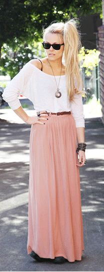 Love this Oyster Pink Coloured Skirt
