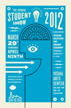2012 Student Show Poster - Jake Dugard