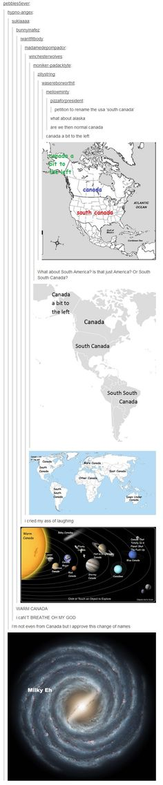 This Hilariously Long Tumblr Thread Plots How Canada Will Achieve World… This is great, I can't even with Canada a bit to the left.: