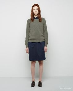 MHL by Margaret Howell / Rib Knit pullover  MHL by Margaret Howell / Cotton Canvas Military Shirtdress  Jil Sander / Oxford