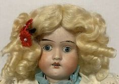 """Wiefel W&Co 121 AM Armand Marseille 1908 Dep 14"""" Antique Bisque Dolly Face Doll 