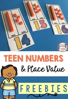 FREE PRINTABLES - Kindergarten and First Grade Math Unit - Teen numbers and place value - math centers - assessments - unit plans - worksheets and FREE printables #kindergarten #kindergartenmath #teennumbers #placevalue