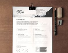 Clean Realistic Resume / CV Template PSD I Like The Rankings For Languages.  Find This Pin And More On Resume Templates [many Free] ...
