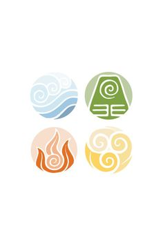 Avatar The Last Airbender Element Cycle Poster - etsy