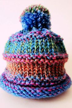 Cute and Cuddly Baby Cap - Free Loom Knitting pattern:
