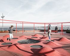 Image 5 of 47 from gallery of Park 'n' Play / JAJA Architects. Photograph by Rasmus Hjortshøj Image 5 of 47 from gallery of Park 'n' Play / JAJA Architects. Photograph by Rasmus Hjortshøj Modern Playground, Playground Design, Outdoor Playground, Playground Kids, Landscape Architecture Design, Space Architecture, System Architecture, Architecture Awards, Green Facade