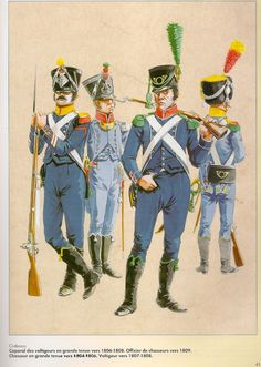 soldiers of Light Infantry Regiments 1804-09