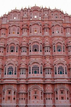 Hawa Mahal, Jaipur The Pink City of India, so named due to the color of the building stone. Beautiful