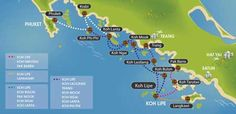 Can't not wait....  Map showing Koh Lipe - island hopping in Southern Thailand