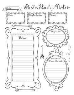 FREE Adult Sermon Notes printable via Hoosier Homemaker