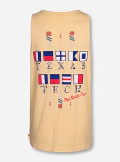 Texas Tech Crew Flag on Butter Tank Top - Red Raiders