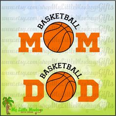 Basketball Arched Mom Dad Design Full Color Digital File Jpeg Png SVG EPS DXF Instant Download - pinned by pin4etsy.com