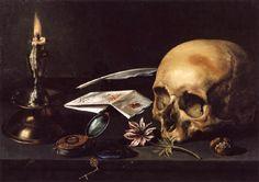 Pierre Claesz. 1625. Vanité à la lettre et à la chandelle.