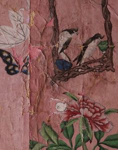Pink antique Chinoiserie, boy what I'd love to do with some more of this!!! Now this is it- pink Chinoiserie!