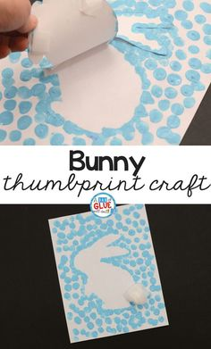 Spring and Easter Crafts are so much fun! This Bunny Thumbprint Art is a great a Spring and Easter Crafts are so much fun! This Bunny Thumbprint Art is a great a Spring and Easter Crafts are so much fun! This Bunny Thumbprint Art is a great a… Bunny Crafts, Easter Crafts For Kids, Easter Crafts For Preschoolers, Art Crafts For Kids, Rabbit Crafts, Easter Activities For Kids, Thanksgiving Crafts, Spring Kids Craft, Craft Ideas For Girls