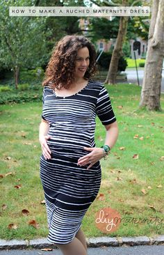 How to make a ruched maternity dress with Clio