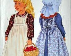 Pioneer Costume Sewing Pattern UNCUT Butterick by latenightcoffee Butterick Sewing Patterns, Childrens Sewing Patterns, Kids Patterns, Vintage Sewing Patterns, Doll Patterns, Pioneer Costume, Pioneer Dress, Kids Apron, Costume Patterns
