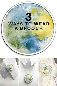 Enameled brooch/pin; versatile and gorgeous $52