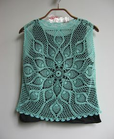 """Crochet lace version of """"Lotus"""" - Water Heart clouds - clouds of water Heart blog"""