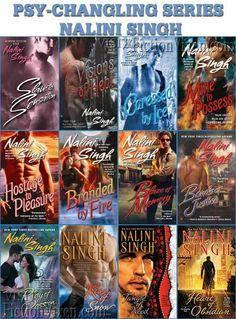 Nalini Singh Psy - Changeling Series. Fantastic paranormal romance series!
