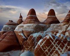 Amazing rock formations Blue Canyon - Hopi Indian Reservation Land, Arizona.