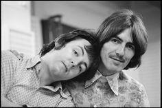 Paul McCartney and George Harrison (sweet)